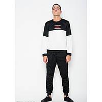 Спортивный костюм ISSA PLUS GN-138A черный/белый - Оригинал
