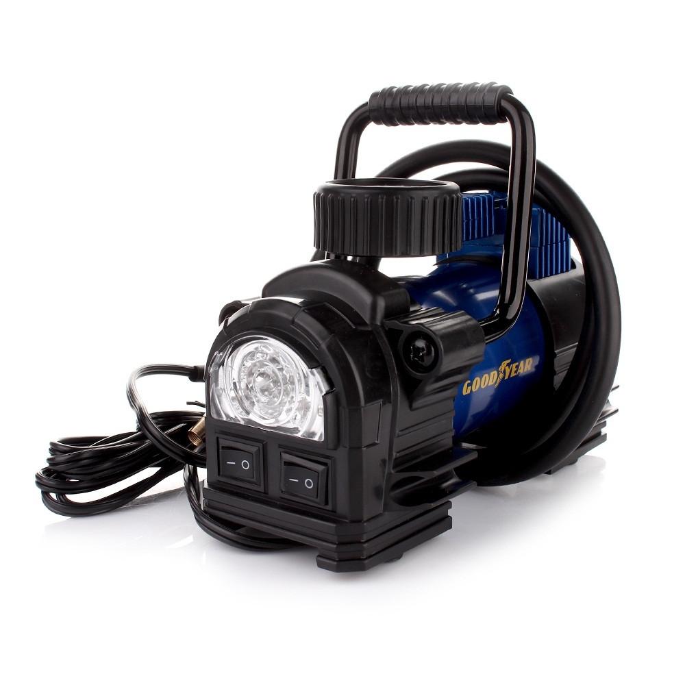 Компрессор автомобильный с фонарем GoodYear GY-35L (в прикуриватель) (электронасос для шин)