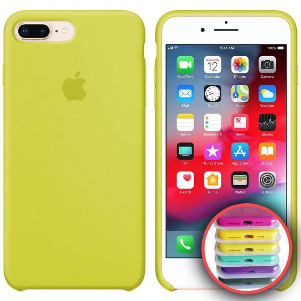 Силиконовый чехол Silicone Case Full для iPhone 7/8Plus (37) new yellow