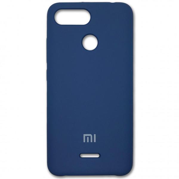 Чехол - накладка Silicone Cover для Xiaomi Redmi 6 Blue