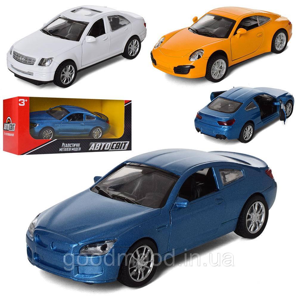 Машина AS-2330 АвтоСвіт, мет., інерц., відчин. двері, гумові колеса, 3 види, кор., 16.5-7-7 см.