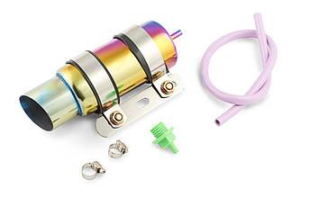 Система отвода картерных газов на скутер, мотоцикл, мопед (стайлинг) 190*80мм (зеленая) 118