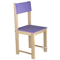 Стульчик детский деревянный ИГРУША 50 см Фиолетовый