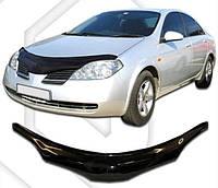 Дефлектор капота  Nissan Primera с 2001,  Мухобойка Nissan Primera