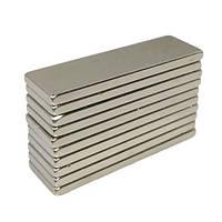 Магниты неодимовые сильные 30x10x2мм N35 10шт