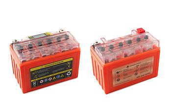 Мото аккумулятор АКБ (Аккумулятор на скутер, мотоцикл, мопед) 12В (V) 9А гелевый (151x86x106, оранжевый, с