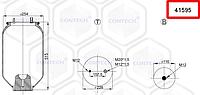 Пневмоподушка, пневморессора подвески FRUEHAUF шпилька-воздух, 4159NP05, 5841595S-RM