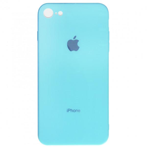 Чехол GLASS Case COLORFULL для 7/8 Sky blue