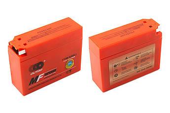 Мото аккумулятор АКБ (Аккумулятор на скутер, мотоцикл, мопед) 12В (V) 2,3А гелевый, Cузуки (Suzuki) (113x39x89, оранжевый, mod:YT4B-5) OUTDO
