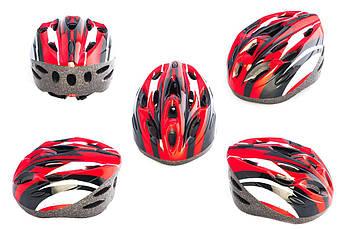 Мотошлем, Мотоциклетный шлем  кросс-кантри (бело-красный) DS