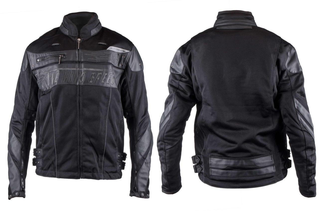 Мотокуртка SCOYCO (текстиль) (Размер:XL, черная, mod:JK)