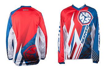 Мотоциклетная футболка, Мотофутболка, Байкерская футболка (Размер:L, 100% хлопок) (мото-кроссовая) SCOYCO