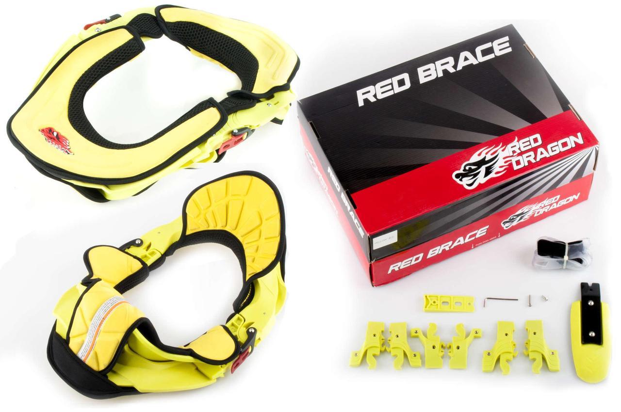 Мотозащита шеи (желтая) RED-DRAGON