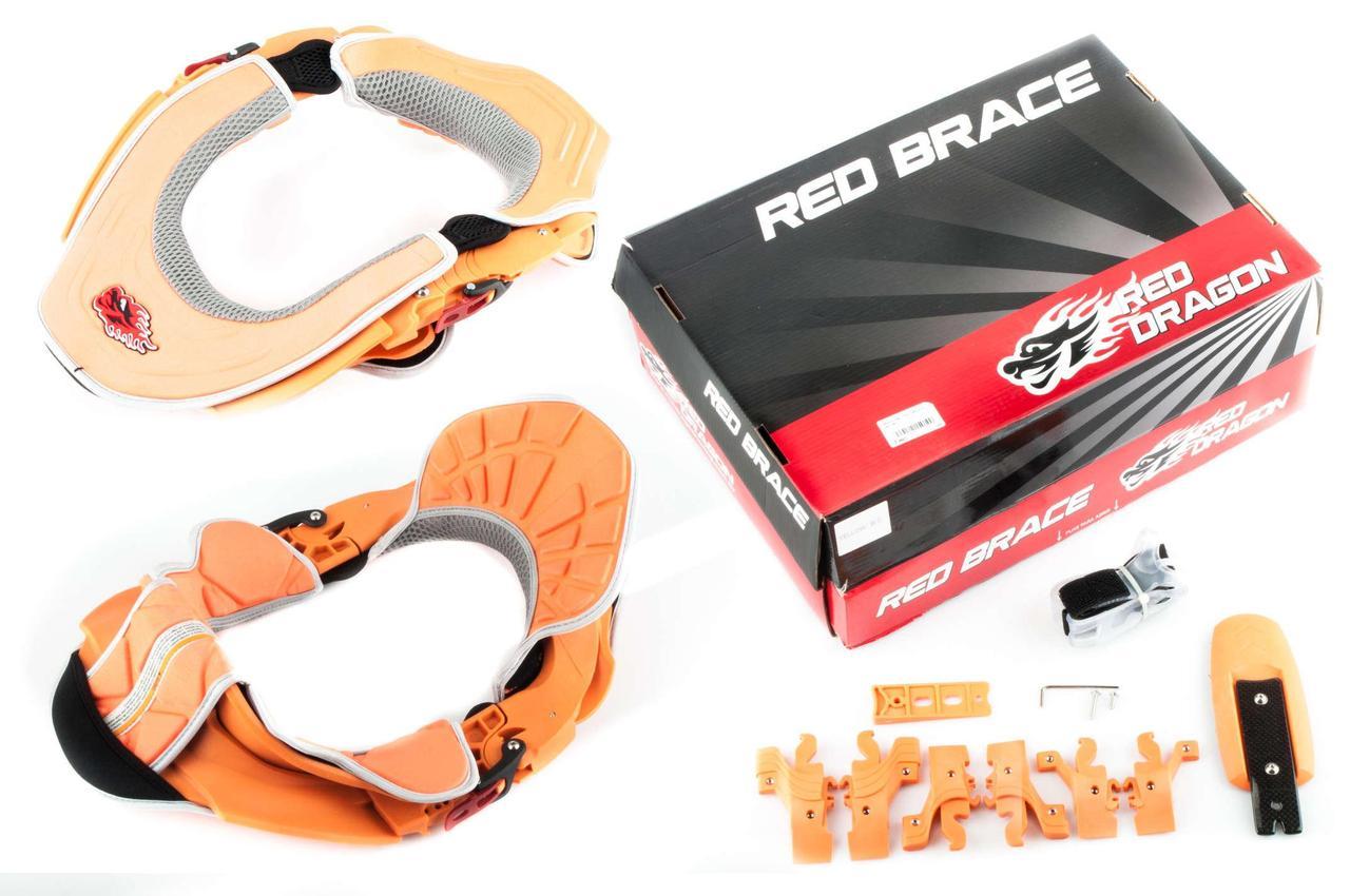 Мотозащита шеи (оранжевая) RED-DRAGON