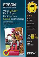 Фотобумага EPSON Value Glossy Photo Paper глянцевая 183 г/м2 10х15см 2х20 л (BOGOF) (C13S400044)