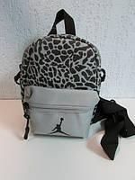 Барсетка женская Nike серая с леопардовым принтом код 556А