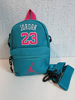 Барсетки женские Nike 23 три яркие расцветки (синий,бирюзовый,розовый) код 537А