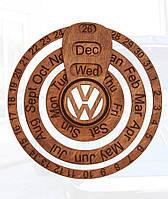 Деревянный вечный календарь (Ручная Работа)