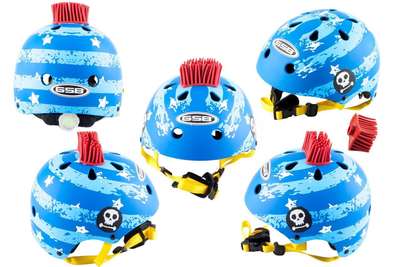 Мотошлем, Мотоциклетный шлем  детский Открытый (jet) (синий) (PUNK)  ГС (GS) B