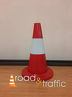 Конус пласиковый дорожный Н35см (со светоотражающей полосой)