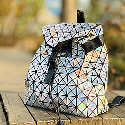Голограммный рюкзак женский Bao Bao Issey Miyake 3015, модный рюкзак для девушек в школу
