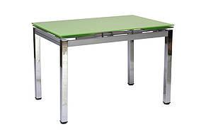 Стол стеклянный Микс-2 Лайм/Хром (Bellini TM)