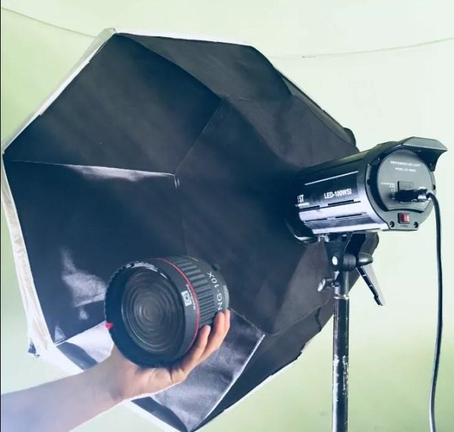 Відео LED світильник 1200вт +штатив +октагон