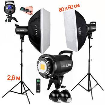 1,2kW Комплект Godox LED  профессионального постоянного видеосвета SL60-2SB69