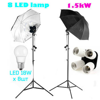 1440Вт Light kit Wall-E8 LED комплект постоянного студийного света *