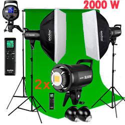1,2kW Комплект Godox LED профессионального постоянного видеосвета SL60-2SB69BG