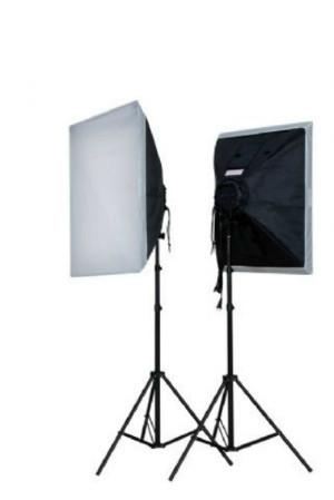 960 Вт Набір LED світла для видеоблогинга / фото Falcon Eyes LH-ESB6060K