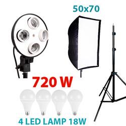Комплект 720 W LED постоянного светодиодного света  Holder 5070-4L