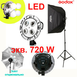 Комплект 720Вт постоянного света - прибор Godox TL-4K SB6060