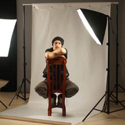 1.6*3м Виниловый фон с люверсами и карманом белый МАТОВЫЙ Фото фон Super Matt VINIL BD-PRO White