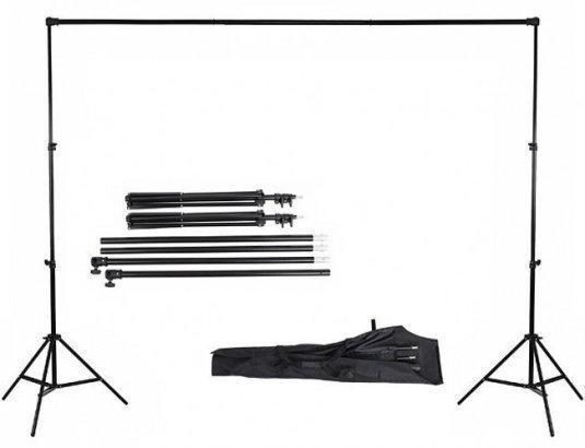 """2,4*3м Тримач-Кріплення фото фону """"Ворота"""" Поперечина + стійки DNP-240G (для фотостудії) + чохол"""