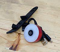 Задний фонарь мигалка для велосипеда USB зарядка Красный