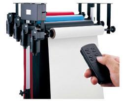 Электрическая система крепления 4-х бумажных фонов на стену / потолок FALCON B-4WE (держатель для фотостудии)