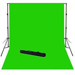 """КОМПЛЕКТ тканевый зеленый фон """"Хромакей"""" (2х3м) с держателем фона """"Ворота"""" GODOX 2030"""