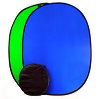 1.5*2м Фон хромакей FST на пружине green/blue (muslin backdrop, Chroma Key) складной