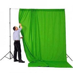 Хромакей фон зеленый 2.7 х 5.0м фон Falcon (тканевый)