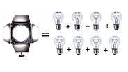 Светодиодный LED прожектор Led 60W Red (5500K) источник постоянного дневного света, фото 2