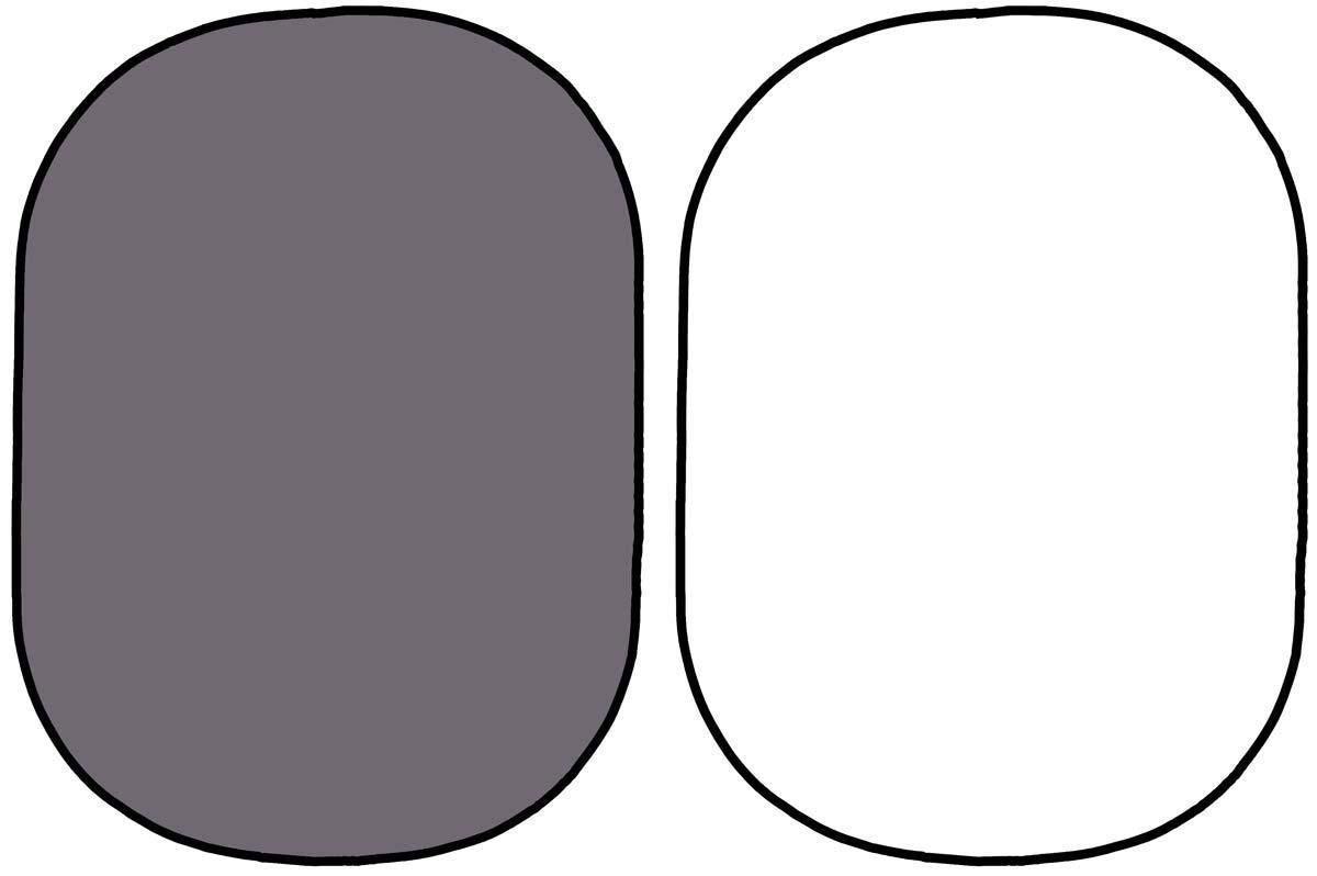 1,5x2м Фон в пружинной рамке Visico BP-028 2в1 (серый/белый) складной