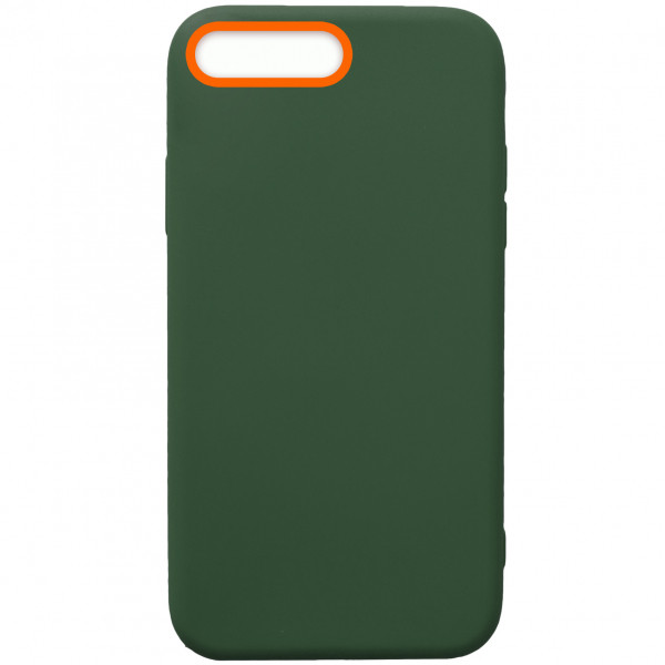 Чехол - силикон WOW Case для iPhone 7 Plus/8 Plus dark green