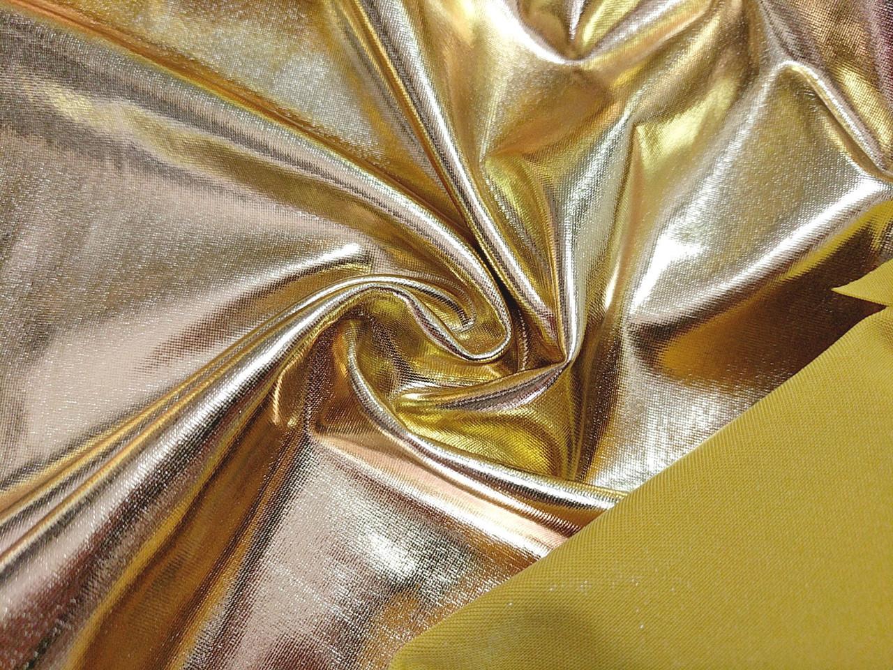 Трикотаж масло нарядное залитое, желтый