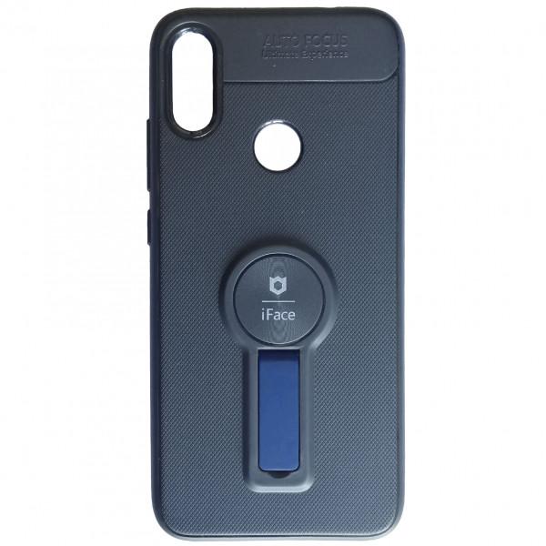 Чехол - силикон iFace кольцо+магнит для Xiaomi Redmi Note 7 black blue