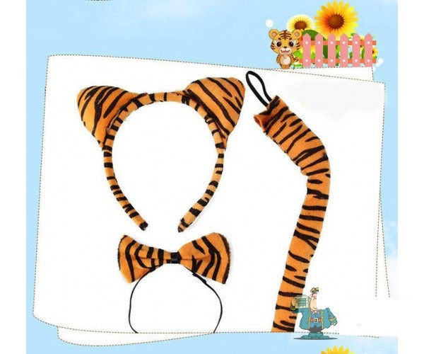 Набір Тигр. Карнавальний набір Тигр. Обідок Тигр.
