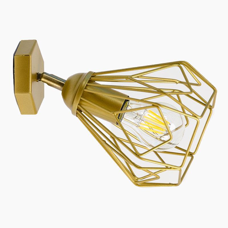 Настенный светильник на одну лампу  Bevel W165 Золото (1329)