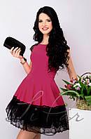 Женское вечернее платье с пышной юбкой Lipar Фуксия