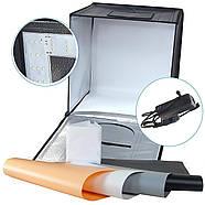 60x60x60см Фотобокс (Лайтбокс, лайткуб,фотокуб) с LED подсветкой Visico LED-660 , фото 4