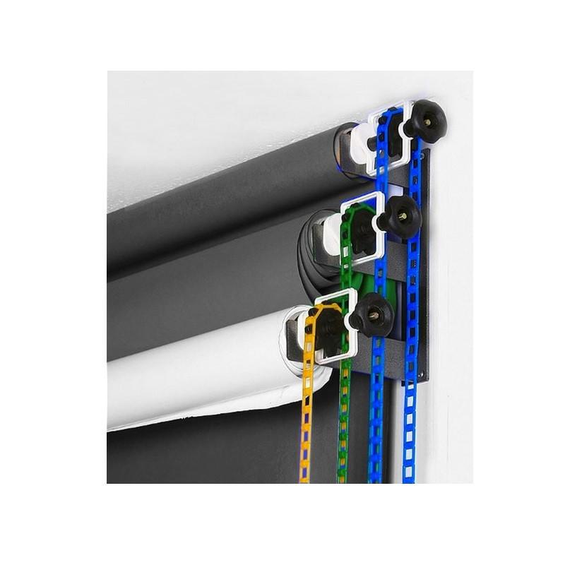 Система крепления 3-х бумажных фонов на стену / потолок Visico B300 (держатель для фотостудии)